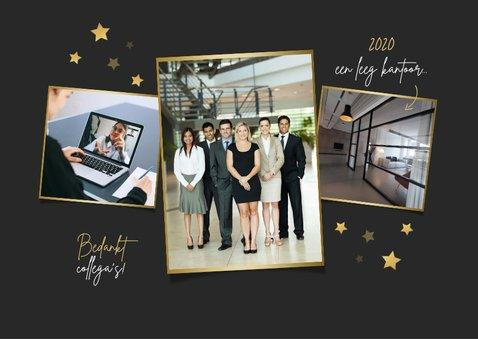 Zakelijke kerst en nieuwjaarskaart bedankt held corona 2