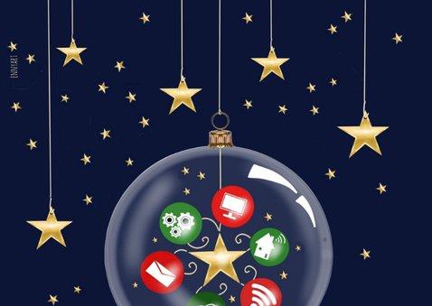 Zakelijke kerst - Kerstballen met ICT pictogrammen 2
