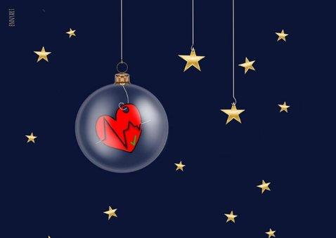 Zakelijke kerst - zorg kerstballen 2