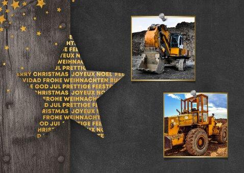 Zakelijke kerstkaart 2 foto's meertalig met logo en sterren 2