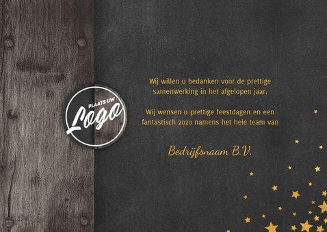 Zakelijke kerstkaart 2 foto's meertalig met logo en sterren 3