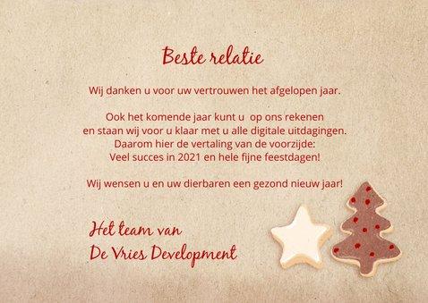 Zakelijke kerstkaart 'Accept all cookies' 3