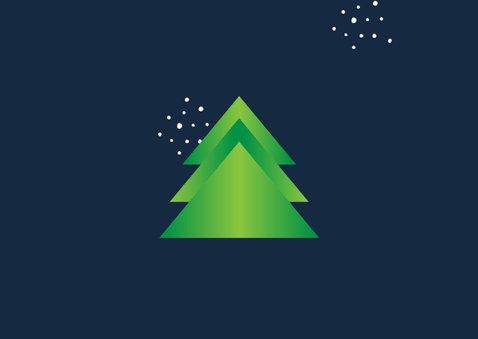 Zakelijke kerstkaart agrarisch boer landbouw kerstbomen 2