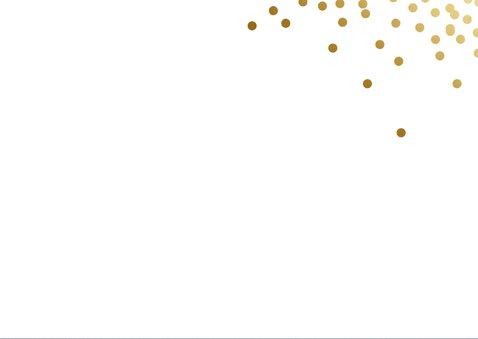 Zakelijke kerstkaart blauw met goud Merry Christmas 2