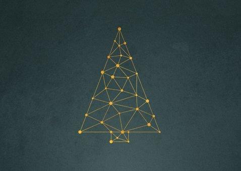 Zakelijke kerstkaart connectie kerstboom verbinding 2