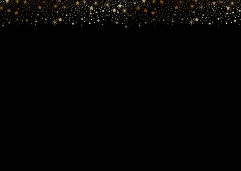 Zakelijke kerstkaart foto sterren tekst goudlook 2