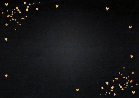 Zakelijke kerstkaart fotocollage gouden confetti 2