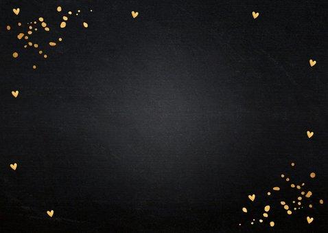 Zakelijke kerstkaart fotocollage zwart goudlook confetti 2