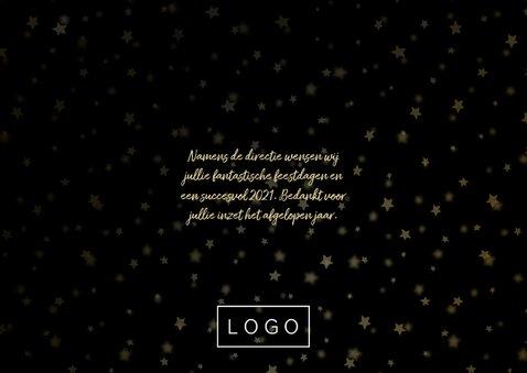 Zakelijke kerstkaart goudlook fotocollage met sterren 3