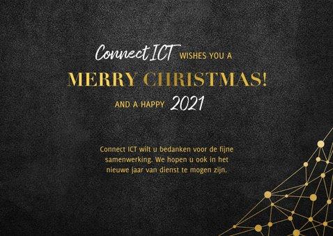 Zakelijke kerstkaart ICT gouden typografie en netwerk 3