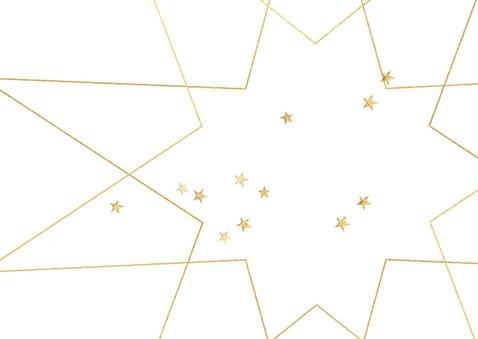 Zakelijke kerstkaart kerstster goud zwart 2