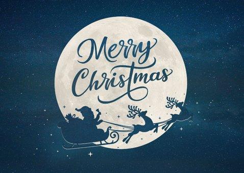 Zakelijke kerstkaart met eigen foto en kerstman in arrenslee 2