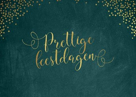 Zakelijke kerstkaart met goudkleurige sierlijke letters 2