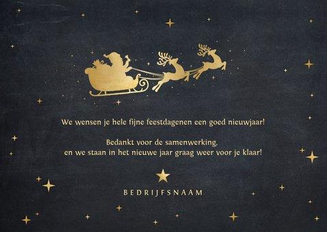 Zakelijke kerstkaart met sierlijke letters Merry Christmas 3