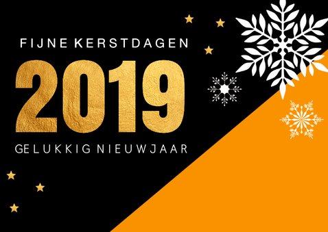 Zakelijke kerstkaart oranje 2019 2