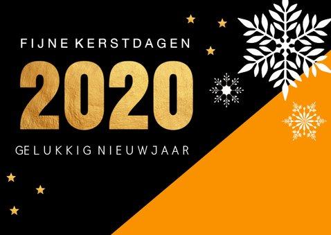 Zakelijke kerstkaart oranje 2020 2