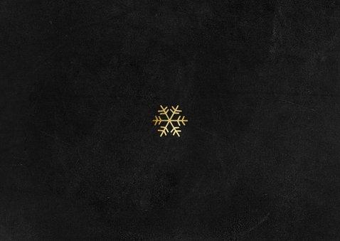 Zakelijke kerstkaart stijlvol goud sneeuw fotocollage Achterkant