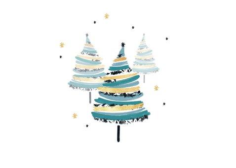 Zakelijke kerstkaart stijlvol kerstbomen sterren foto 2