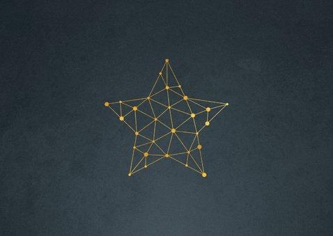 Zakelijke kerstkaart verbinding ster connectie 2