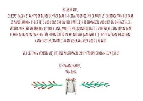 Zakelijke kerstkaart warm wishes met logo 3