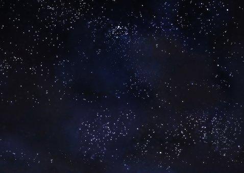 Zakelijke kerstkaart witte bomen tegen donkere sterrenhemel 2