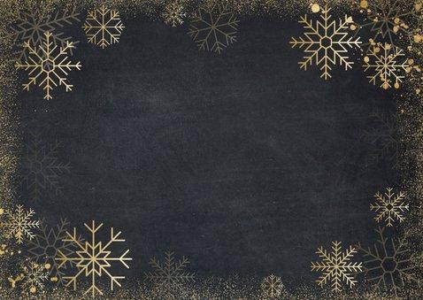 Zakelijke klassieke kerstkaart met goudlook ijssterren Achterkant