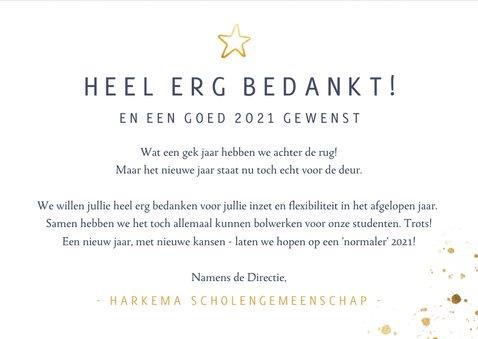 Zakelijke nieuwjaarskaart - bedankt voor je inzet in 2020 3