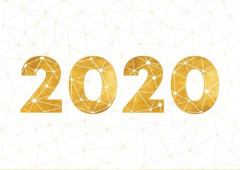 Zakelijke nieuwjaarskaart gouden 2020 verbinding thema 2