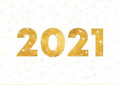 Zakelijke nieuwjaarskaart gouden 2021 verbinding thema 2