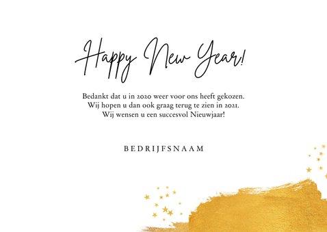 Zakelijke nieuwjaarskaart stijlvol goud sterren 2021 3