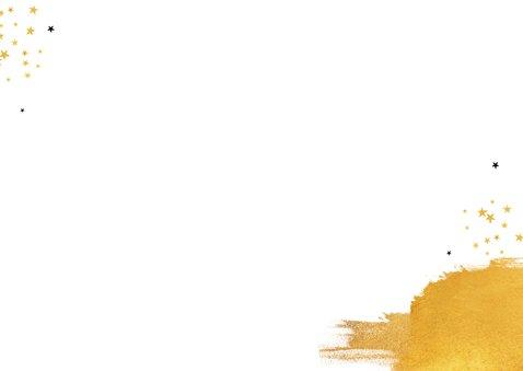 Zakelijke nieuwjaarskaart stijlvol goud sterren 2021 Achterkant
