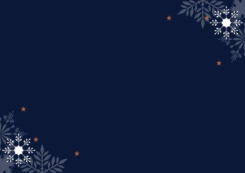 Zakelijke nieuwjaarskaart typografie 2021 Achterkant