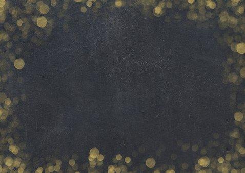 Zakelijke nieuwjaarskaart zwart met goudlook confetti Achterkant