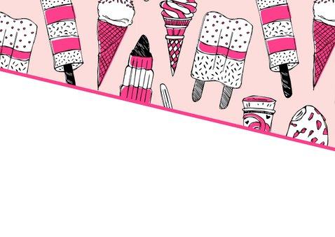 Zomaar een kaartje met ijsjes en foto 2
