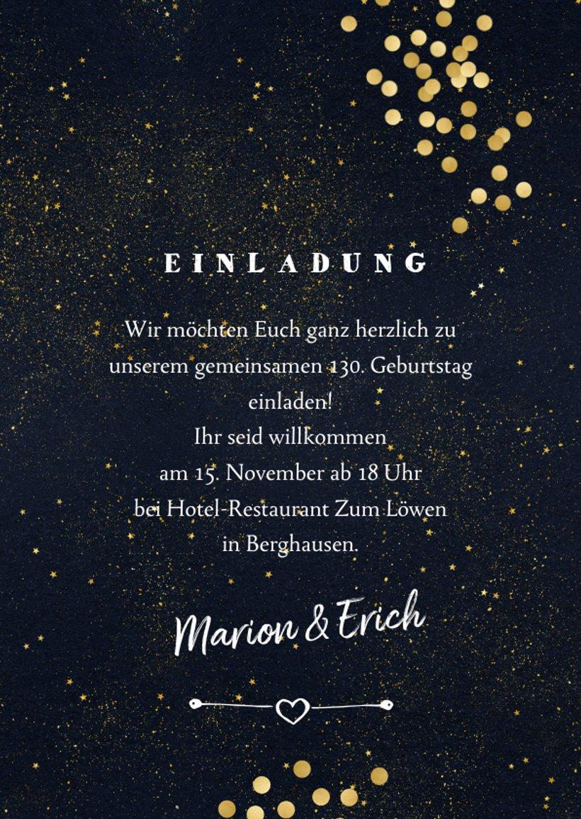 Einladung gemeinsamer Geburtstag mit Sternchen | Kaartje2go