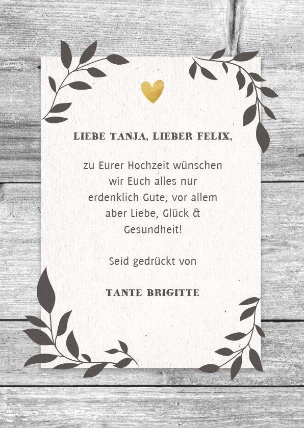 Glückwunschkarte zur HochzeitMr.& Mrs auf   Kaartje2go