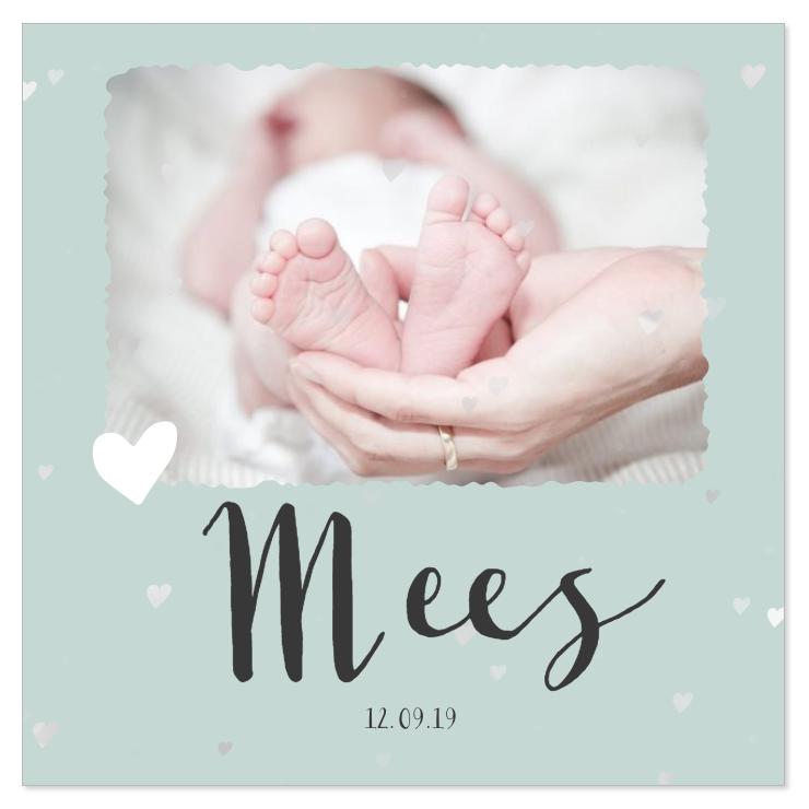Geboortekaartje met eigen foto