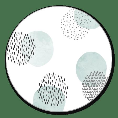 Cirkel patroon groen