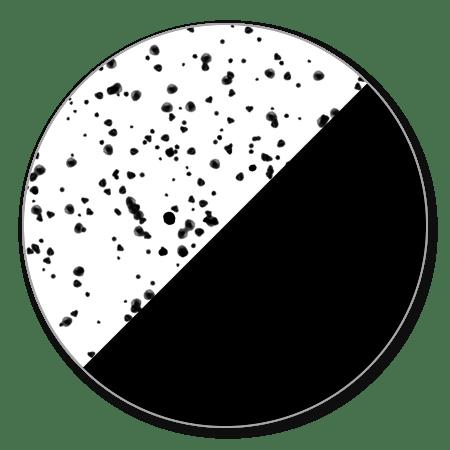 Geometrisch met spetters