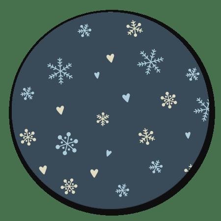 Sneeuwvlokjes blauw