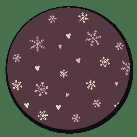 Sneeuwvlokjes roze