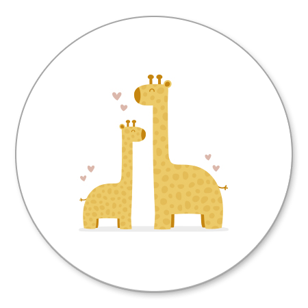 Giraffes met roze hartjes