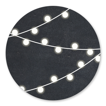 Krijtbord met lampjes