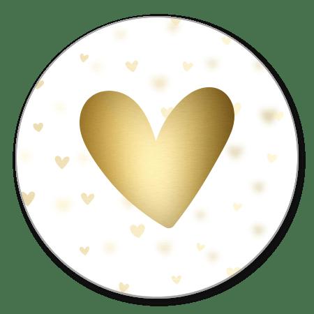 Dwarrelhartjes met hart