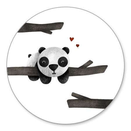 Panda met takjes