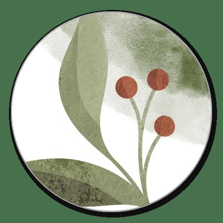 Botanisch waterverfstijl