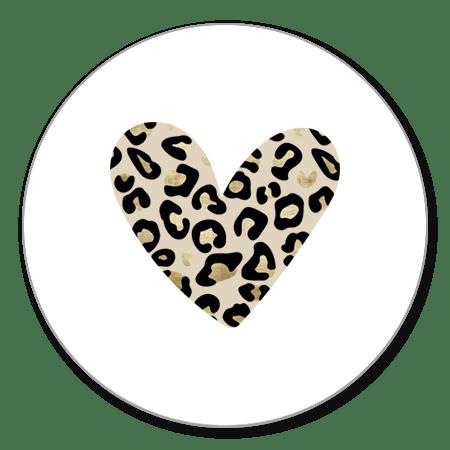 Panterprint hart wit