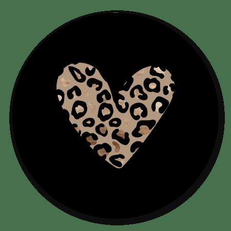 Panterprint hart zwart