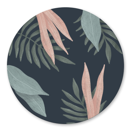 Botanisch bladeren donker