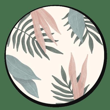Botanisch bladeren pastel